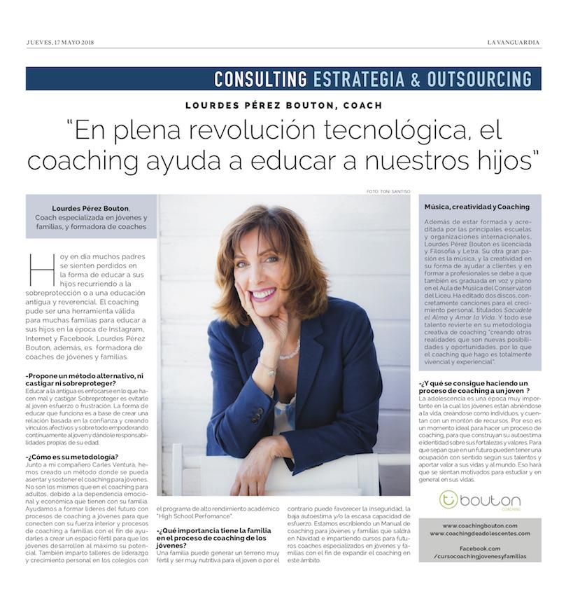 Entrevista en La Vanguardia, 17 mayo 2018