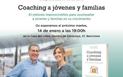 Presentación libro Coaching a jóvenes y familias día 14 de enero a las 19:00 H